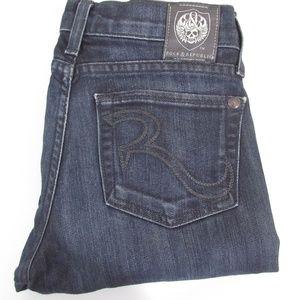 Rock Republic Dark Wash Straight Leg Jeans Sz 24
